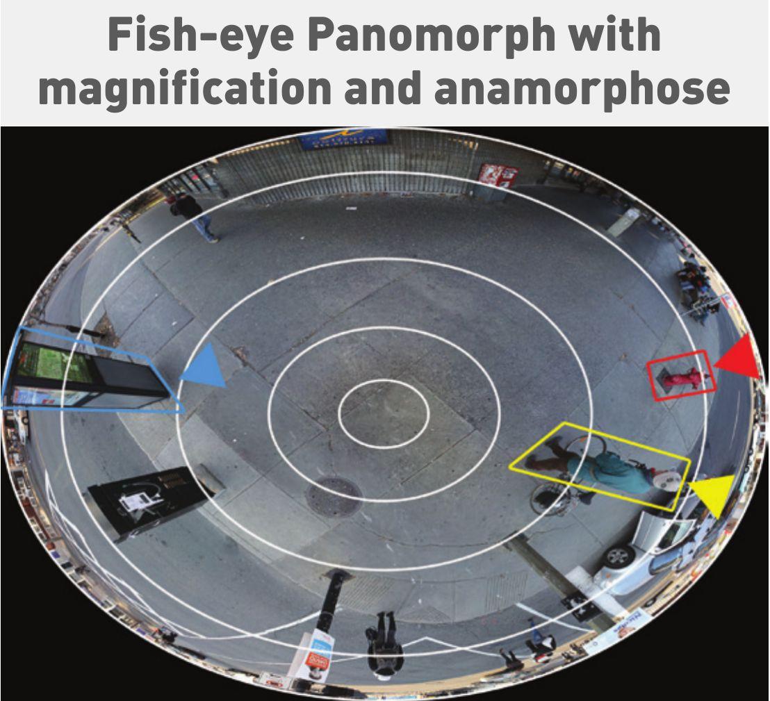 «Фишай» с паноморфным объективом с увеличением и адаптацией под формат 4:3 (Panomorph with magnification and anamorphose)