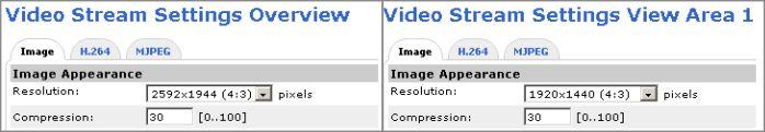 Разрешения «фишай»-камеры в разных режимах работы