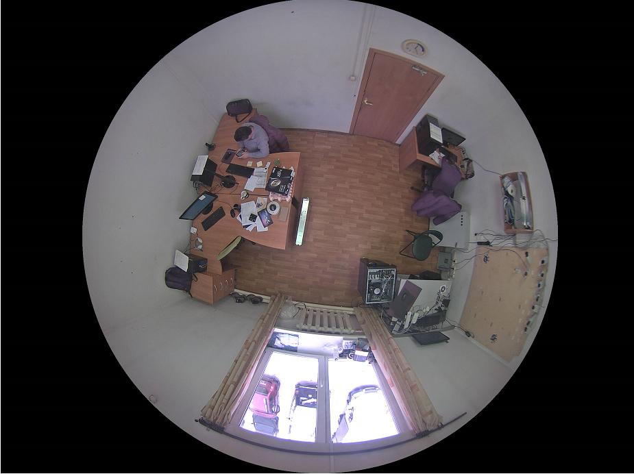 Изображение с камеры «фишай» с применением функции «Border Mask»