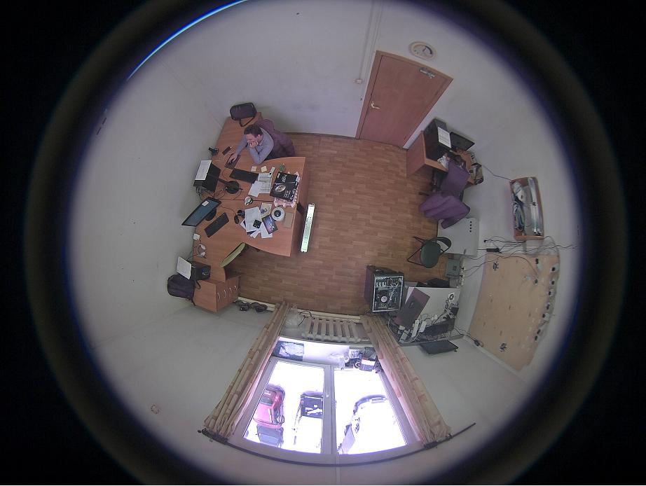Стандартное изображение с камеры «фишай» без «Border Mask»